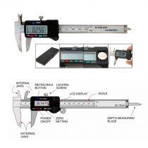 LCD Electronic Digital Gauge Stainless Vernier Caliper 150mm 6 inch Micrometer