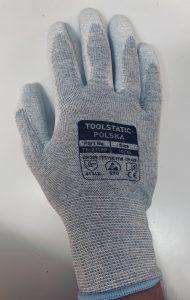Rękawiczka nakrapiana esd